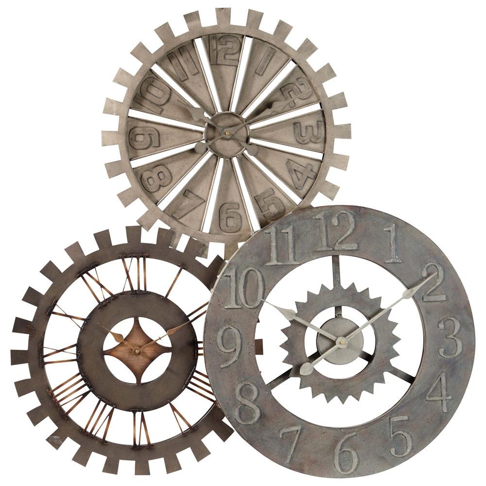Horloge Triple En Métal D 92 Cm In 2019 Clock Steampunk