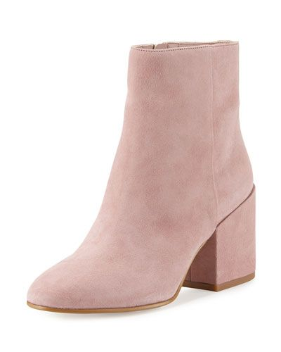 a642a5865a9 Taye Suede Chunky-Heel Bootie Pink Mauve | Shoes | Pink boots ...