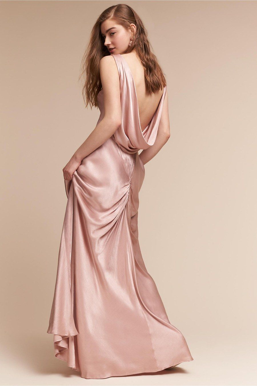 Edie dress, $350, Ghost London available at BHLDN | Wedding | Pinterest