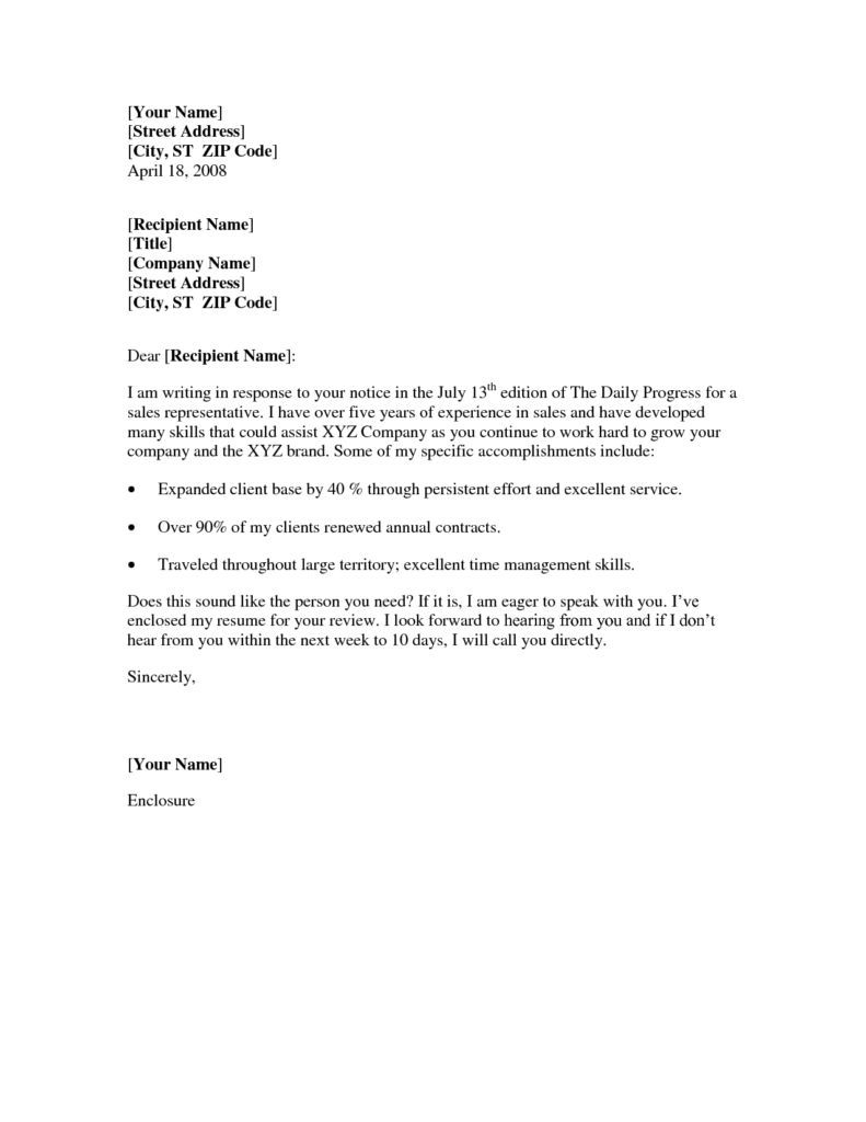 Cover Letter For Job Fair Format Sample General Thank You Letters