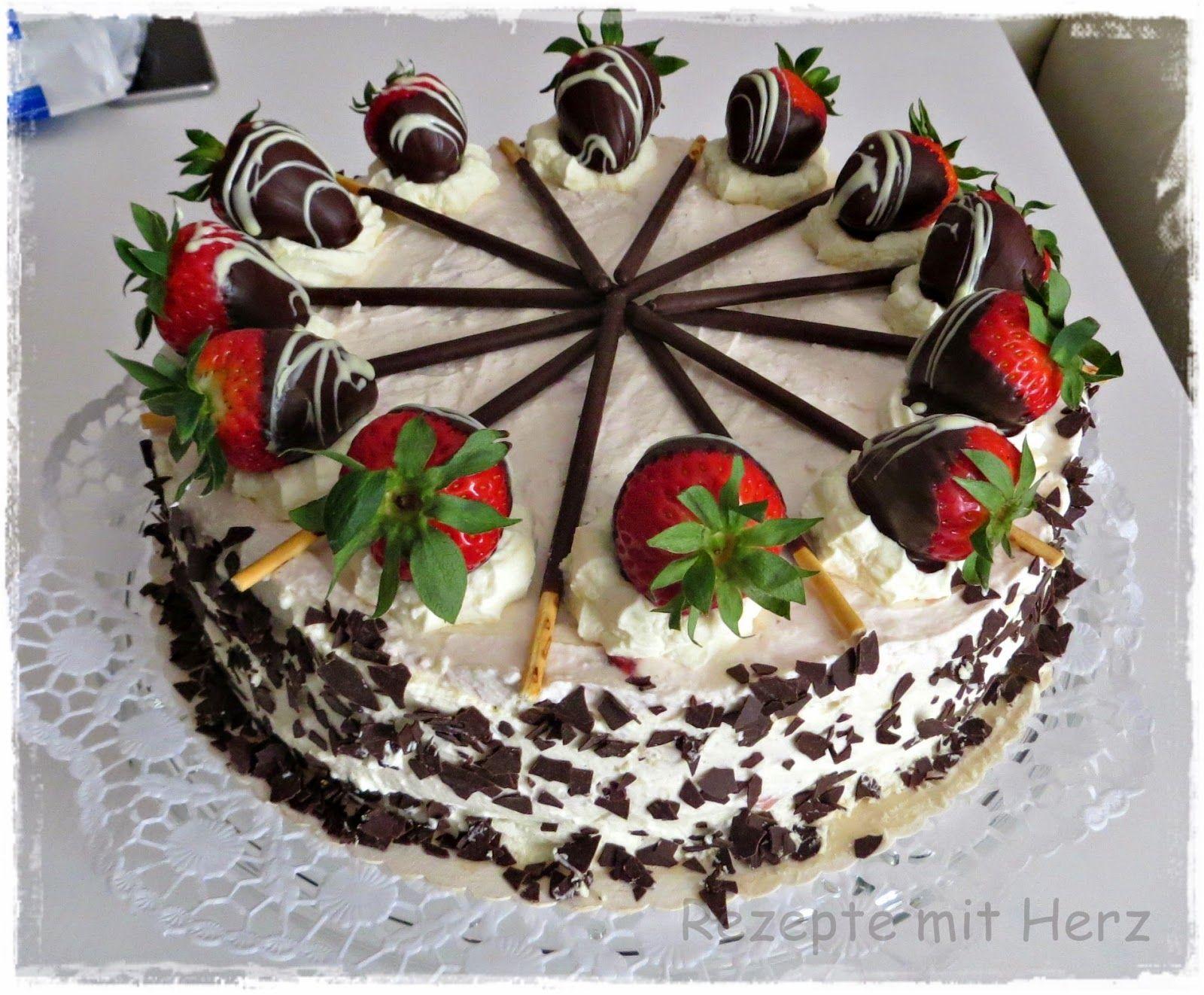 Rezepte Mit Herz Erdbeer Mascarpone Torte Pasteles