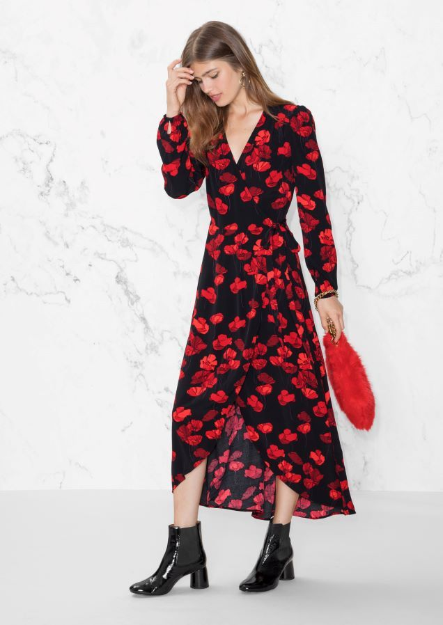 1d6416dbf8fd4 & Other Stories image 1 of Wrap Maxi Dress in Black | A/W 17 in 2019 ...