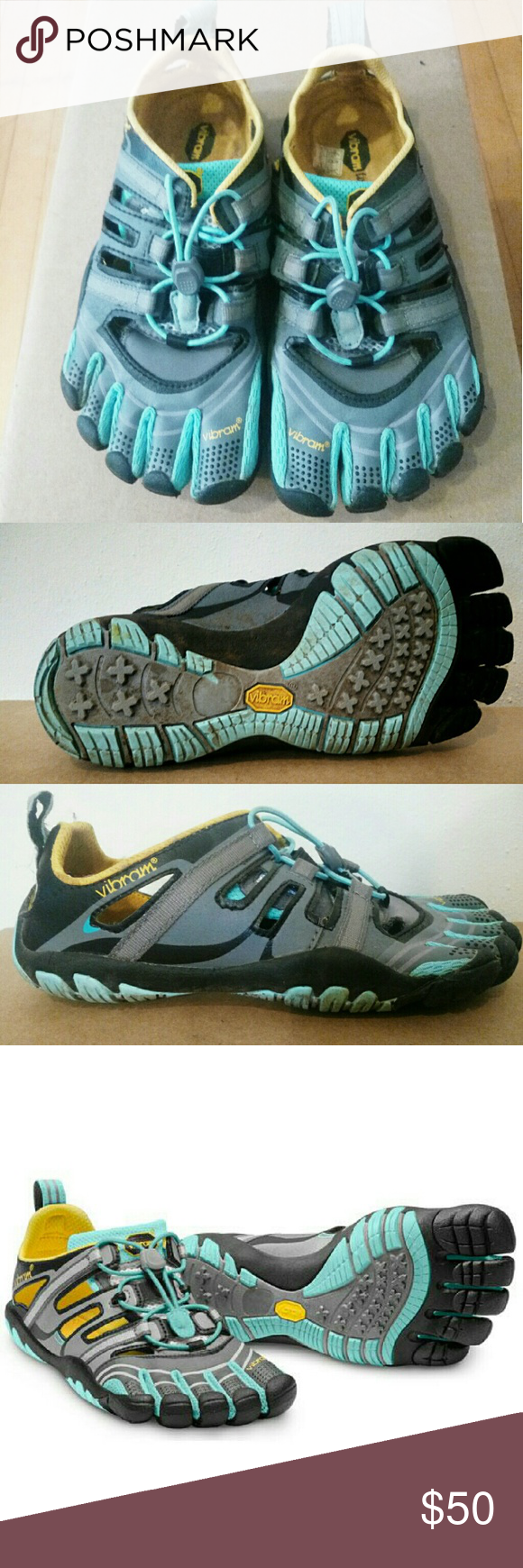 pretty nice dc5be dc496 Vibram FiveFingers Treksport Sandals - Vibram FiveFingers Treksport shoes,  size 37 - Ice blue and