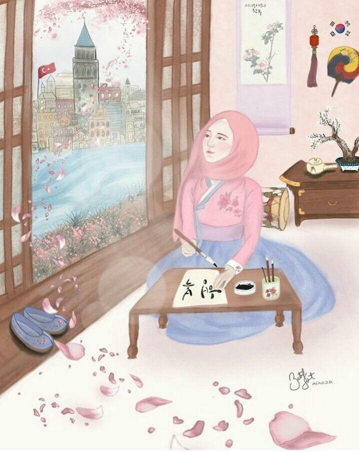 Anime Hijab Girl Anime Muslimah Hijab Hijabart Muslim Illustration Kapali Kiz Cizimleri Digitalart Korean Draw Illustrasyon Posterleri Illustration Cizim
