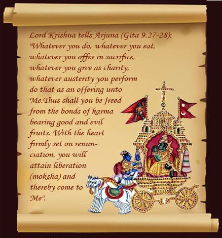 Karma And Nirvana The Bhagavad Gita Gita Quotes Krishna