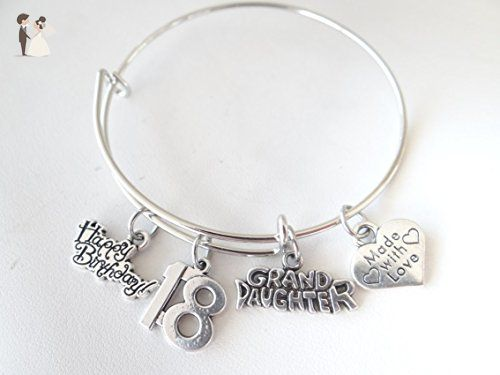 18th Birthday Bracelet Bangle Hy Grand Daughter Made With Love Granddaughter Gift Valentines Wedding