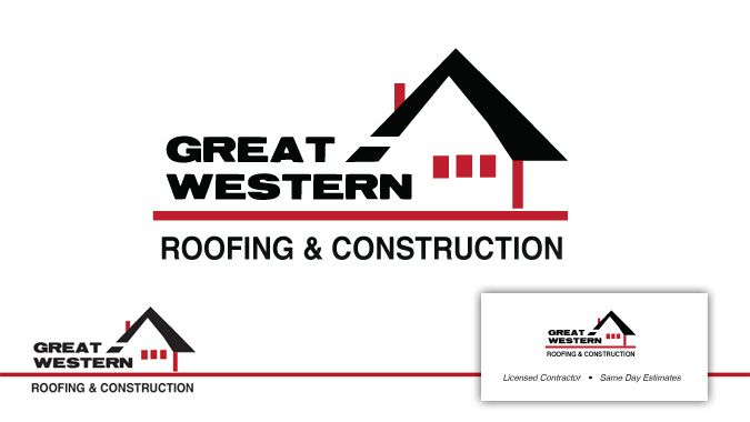 Great Western Roofing • Logo Design by Tag Team Design in