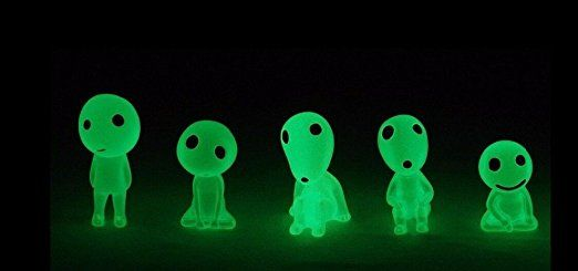Amazon.com: 5 Pcs/Lot studio GHIBLI Miyazaki Hayao Princess Mononoke Forest Spirit Elf Kodama Glow in dark Ornaments: Automotive