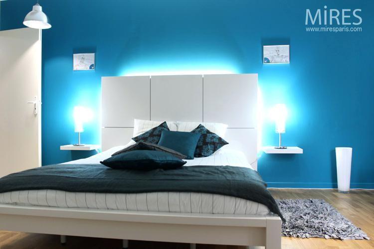 awesome chambre bleu turquoise et beige contemporary   Deco en 2019 ...