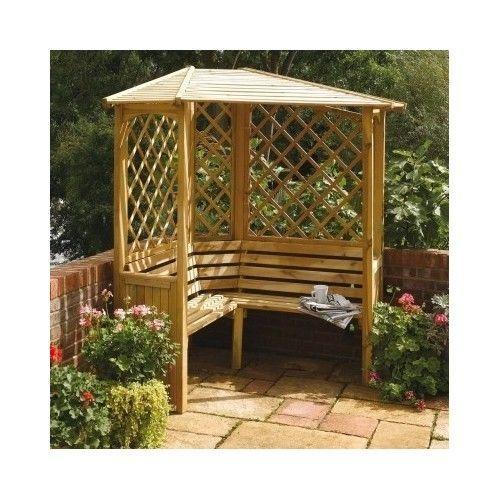 Wooden Garden Arbour 3 Seater Outdoor Bench Seat Trellis Gazebo Pergola Canopy Pergola Canopy