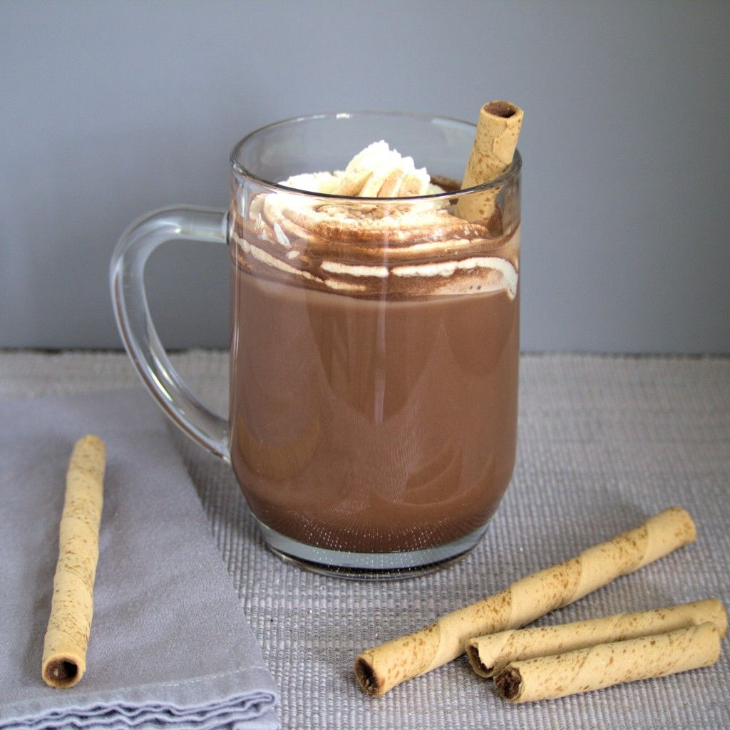 Hazelnut Hot Chocolate Recipe Hot chocolate, Food