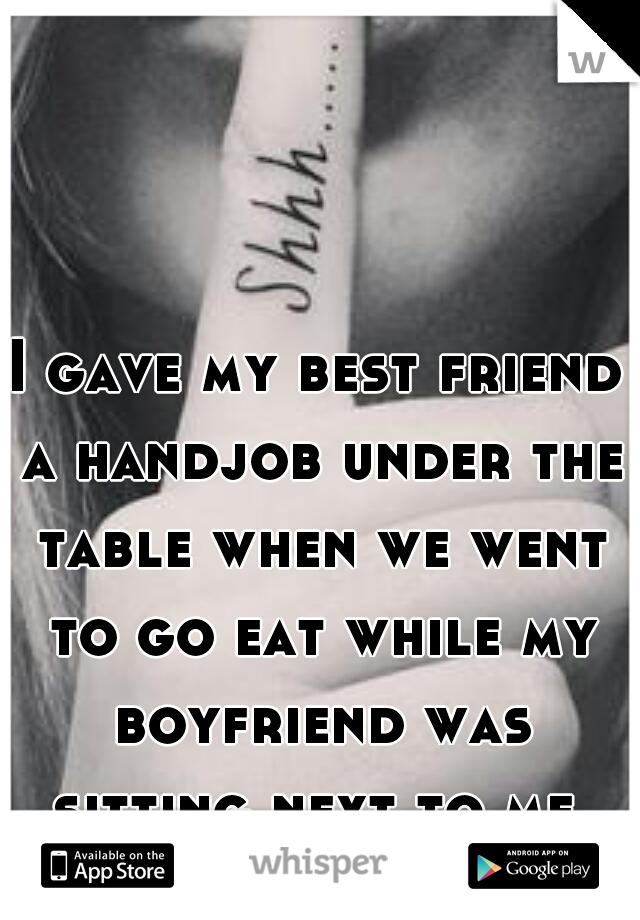 I gave a hand job story