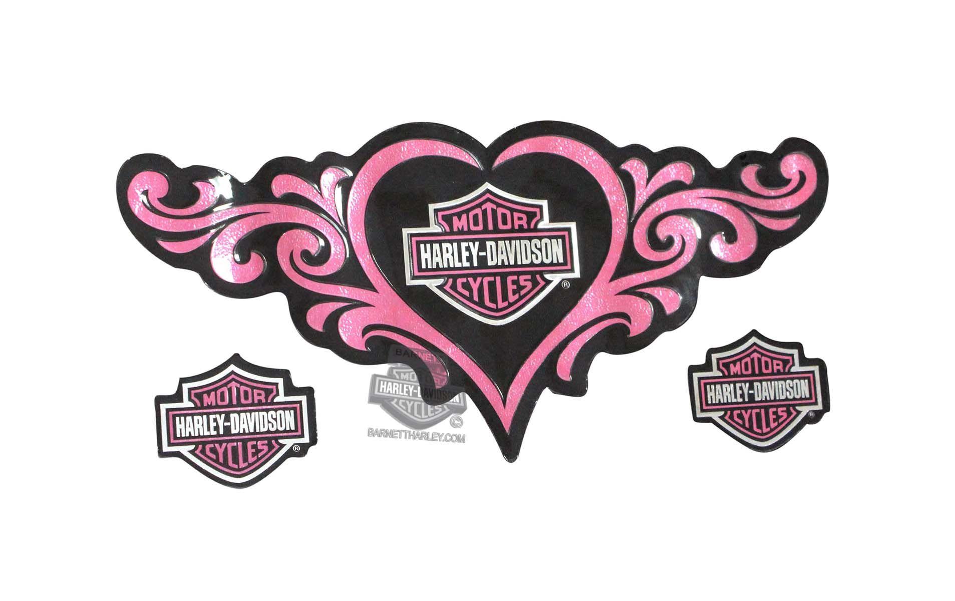 Harley Davidson 174 Love Heart Medium Decal Dc091363 Harley