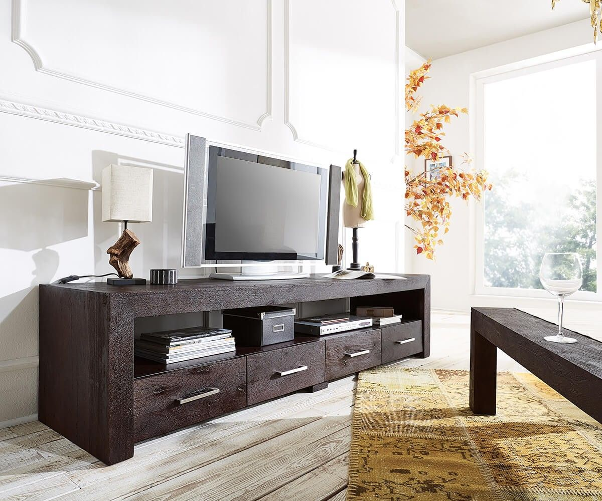 Lowboard wohnzimmer ~ Delife lowboard amadora cm altholz tabak fach schübe