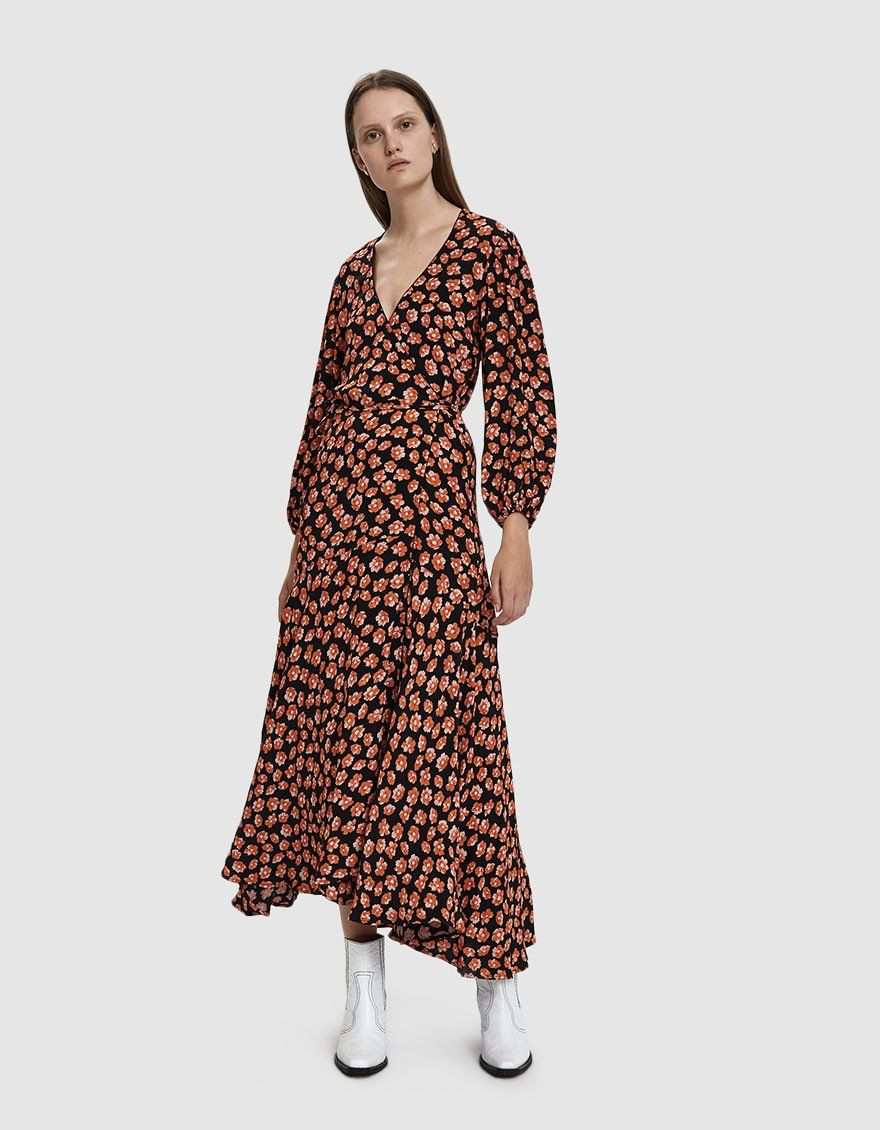 35fcb9f0 Printed Crepe Wrap Dress in 2019 | 255555 | Dresses, Wrap Dress ...