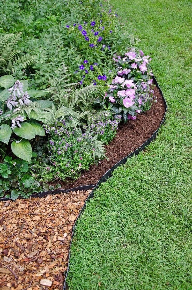 68 Creative Cheap Garden Edging Ideas That Will Transform Your Yard Plastic Landscape Edging Backyard Landscaping Designs Garden Edging