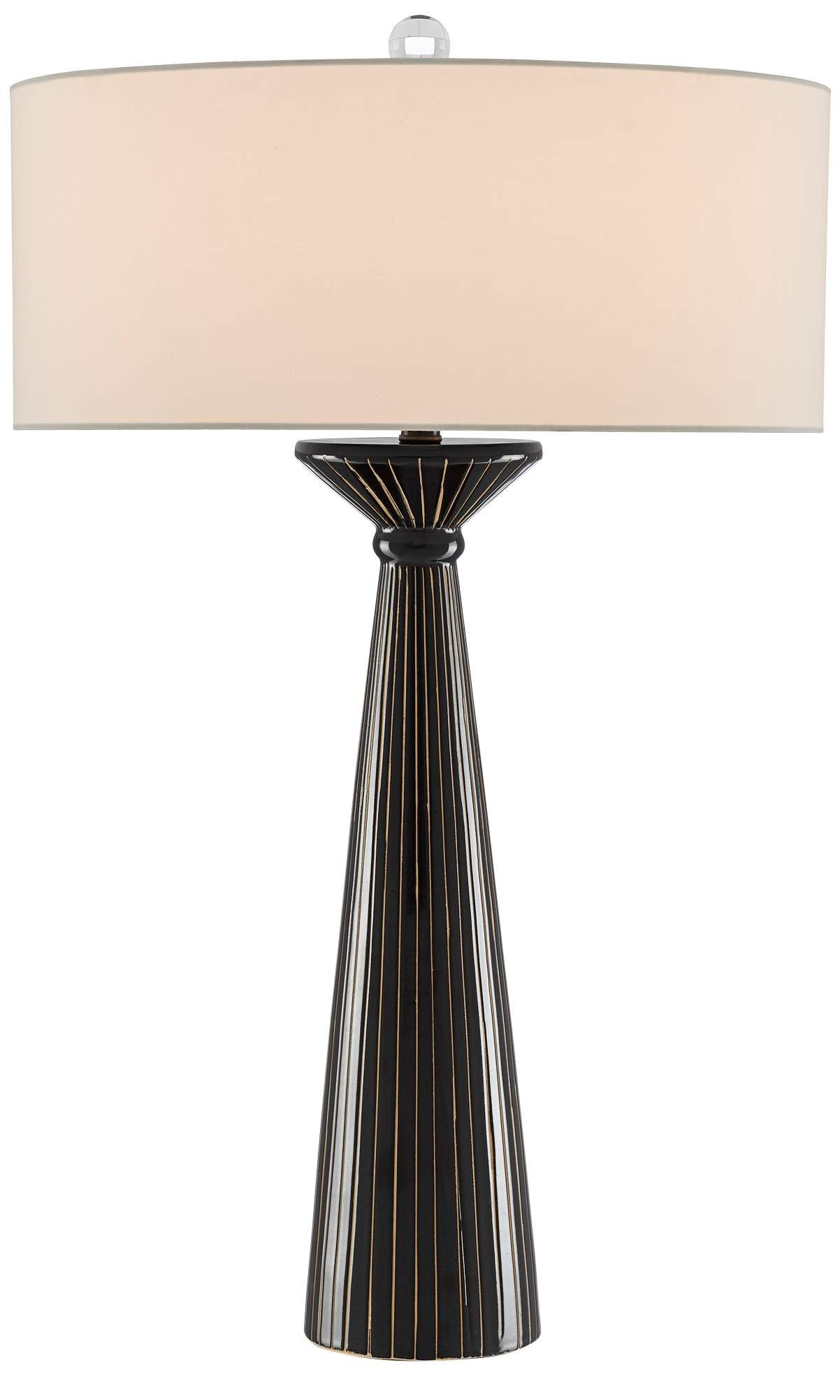 Table Lamps Currey And Company Esme Black Gold Ceramic Table Lamp In 2020 Ceramic Table Lamps Ceramic Table Lamp
