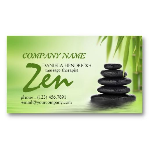 Pin On Massage Therapist Business Cards