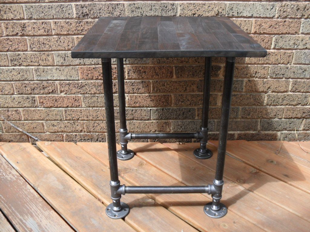 Industrial Pipe End Table Ideas For All Those Scraps