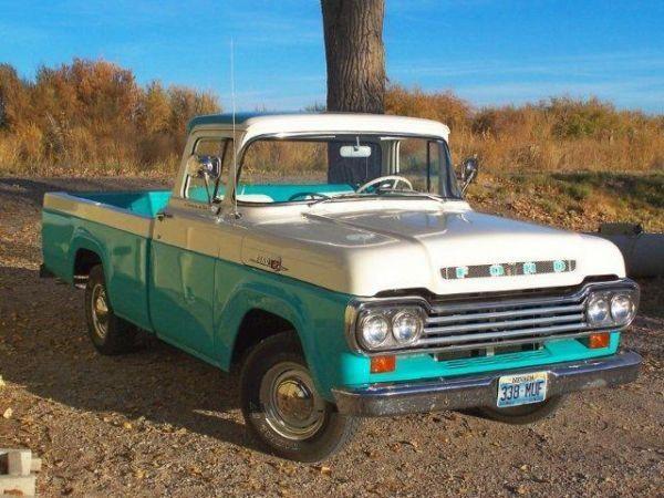 1959 Ford F100 Ford Pickup Trucks Classic Cars Trucks Classic