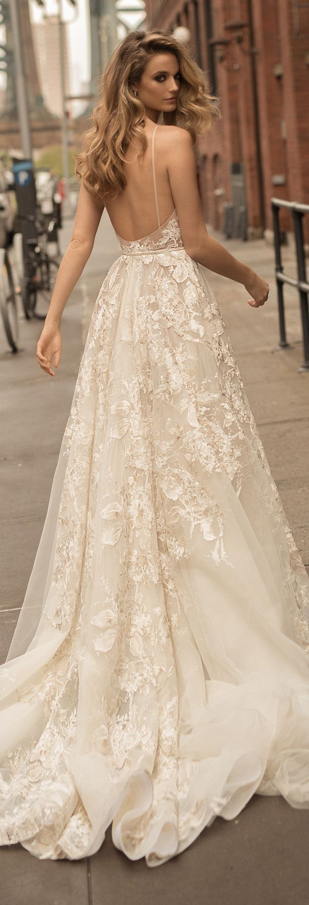 Vintage bare back wedding gown casamento pinterest gowns