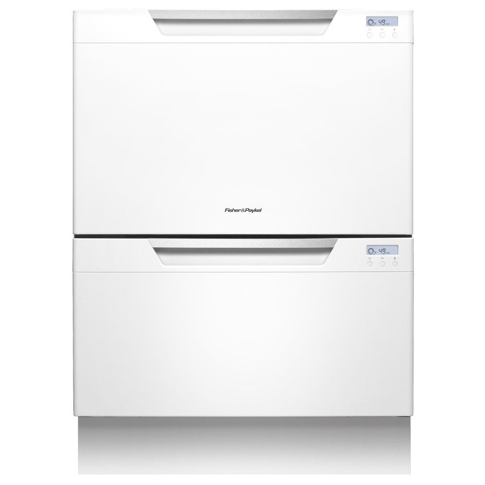 Fisher Paykel Dd60dchw7 89471 Classic Series Curved Twin Dishdrawer Appliance City Double Drawer Dishwasher Drawer Dishwasher Dishwasher White
