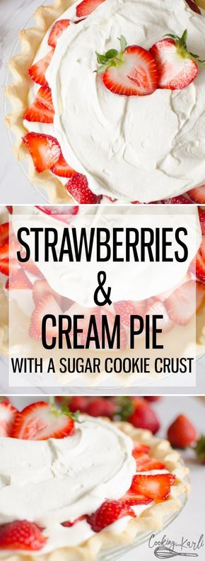 Strawberries and Cream Pie - Cooking With Karli