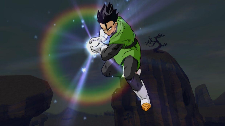 Mystic Gohan In Great Saiyaman Outfit Launches A Super Kamehameha Vs Dabura In Dragon Ball Z Budokai 3 Gohan In Green Dragon Ball Green Outfit Great Saiyaman