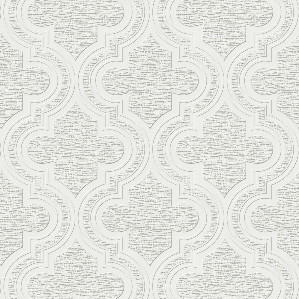 Graham & Brown Paloma White Wallpaper Sample 10015994