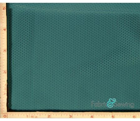 Teal Blue Micro Mesh Sport Fabric 2 Way Stretch Polyester 5 Oz 58 60 Fabric Breathable Fabric Mesh