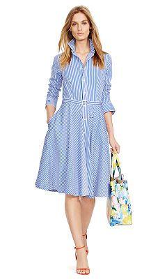 Bengal-Striped Shirtdress - Polo Ralph Lauren Short Dresses - RalphLauren .com