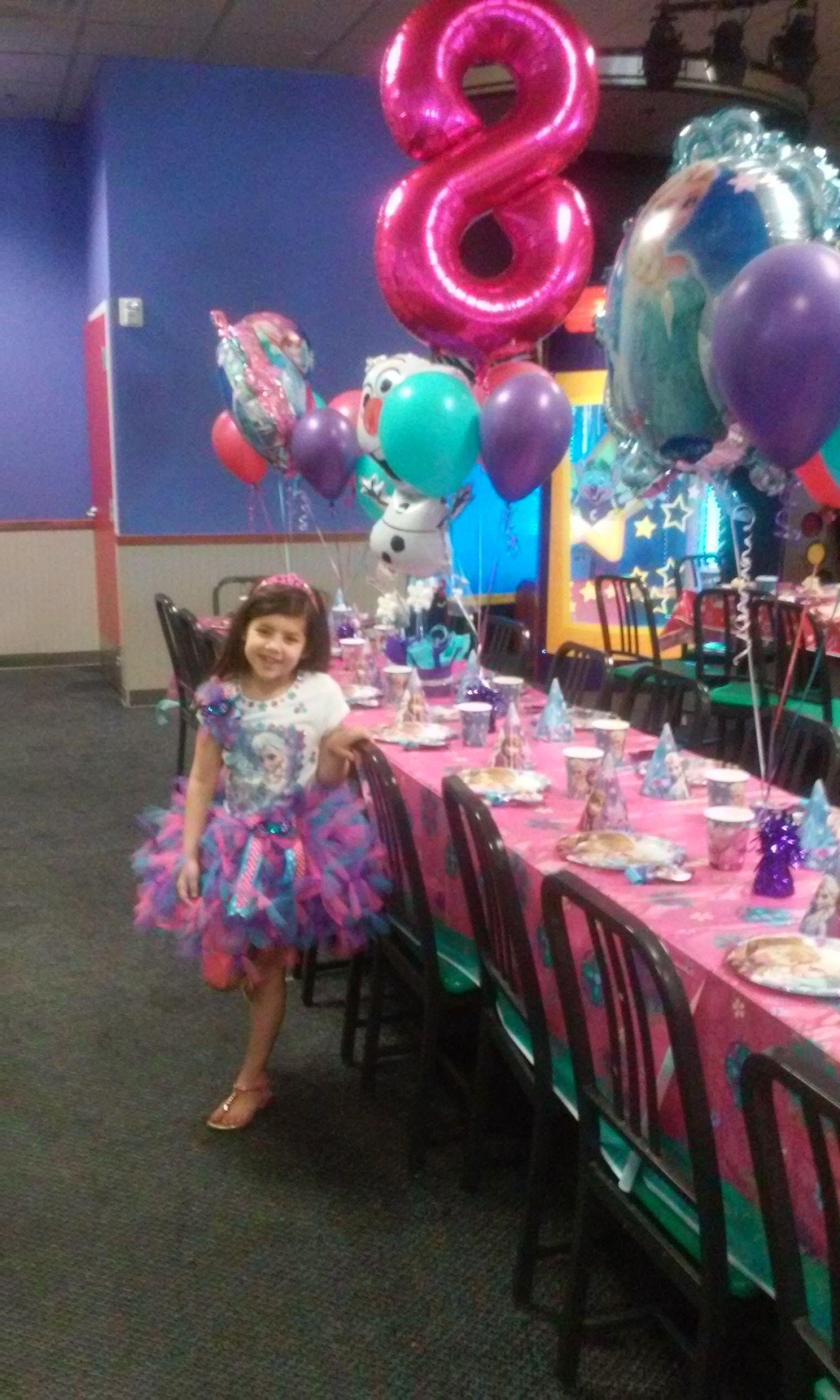 Frozen Party At Chuck E Cheese Chucky Cheese Birthday Party Monster Jam Birthday Party Chuck E Cheese Birthday