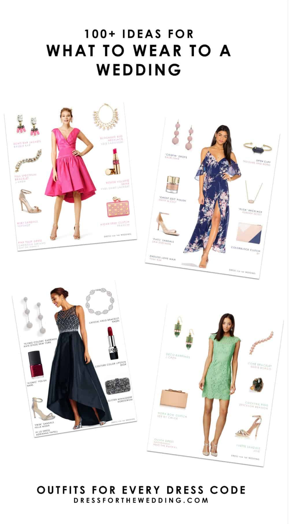 Wedding Guest Outfits Dress For The Wedding Semi Formal Outfits For Women Wedding Cocktail Wedding Attire Wedding Guest Outfit [ 1811 x 1000 Pixel ]