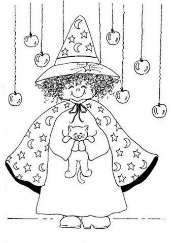 bruxa bruxas colorir pintar desenho desenhos moldes risco molde