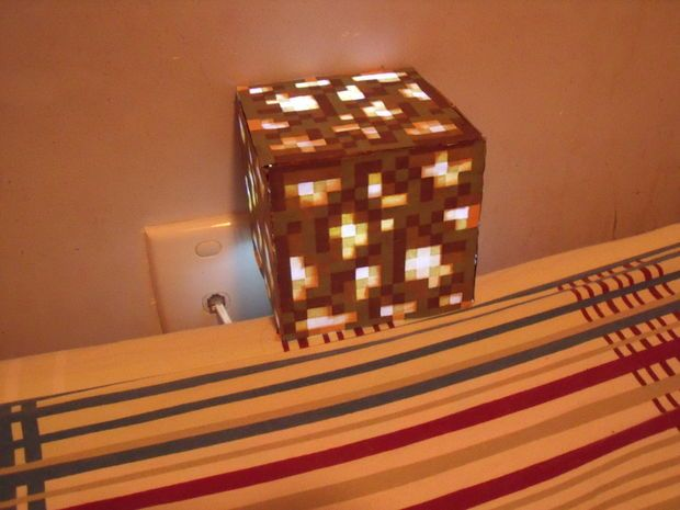 Diy Glowstone Lamp For My Grands Pinterest Minecraft Diy And