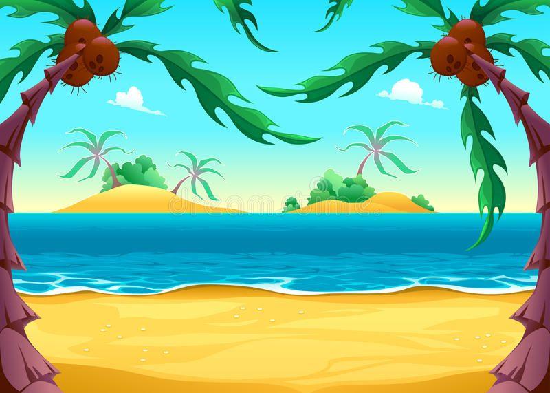 View On The Seashore Cartoon Vector Illustration Affiliate Seashore View Cartoon Illustrat Illustration Illustration Artwork Landscape Illustration