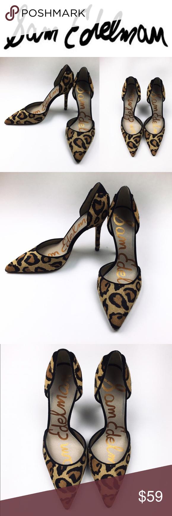 14189cb1272a73 🐯Sam Edelman Delilah calf hair leopard pumps Exotic Sam Edelman Leopard  pumps with real fur