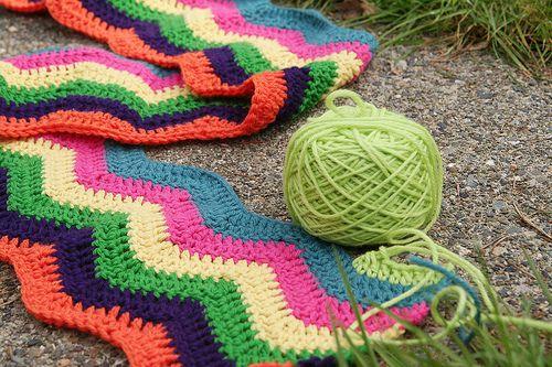 Double Yarn Crochet Afghan Patterns Lw1559 Knit Crochet Ripple