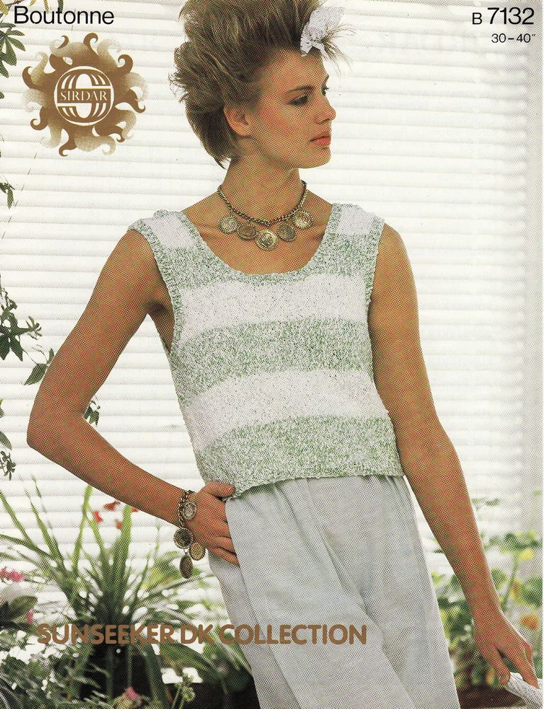 Vintage Knitting Pattern Instructions For Ladies Womens Jumper Top