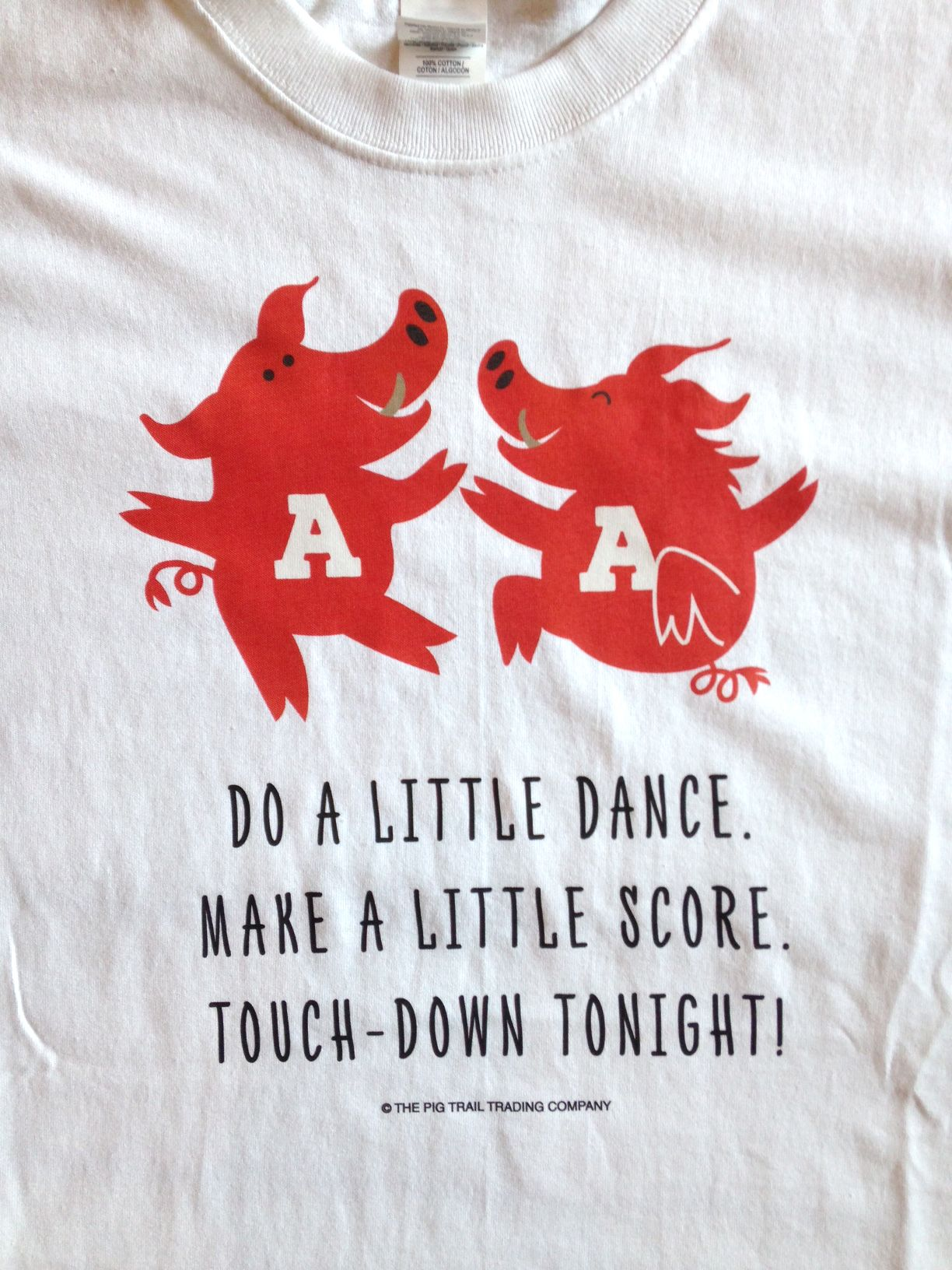393720a9 #pigtrailtradingcompany It's the best victory dance ever! Arkansas  Razorback t-shirt
