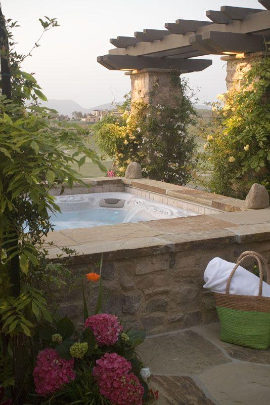 hot tubs landscape ideas backyard hot tub designs