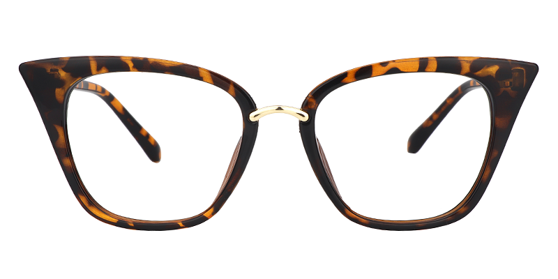 8ba368b39eb Womens Plastic Prescription Eyeglasses Wanda Cat Eye Tortoise Glasses 0538- 01