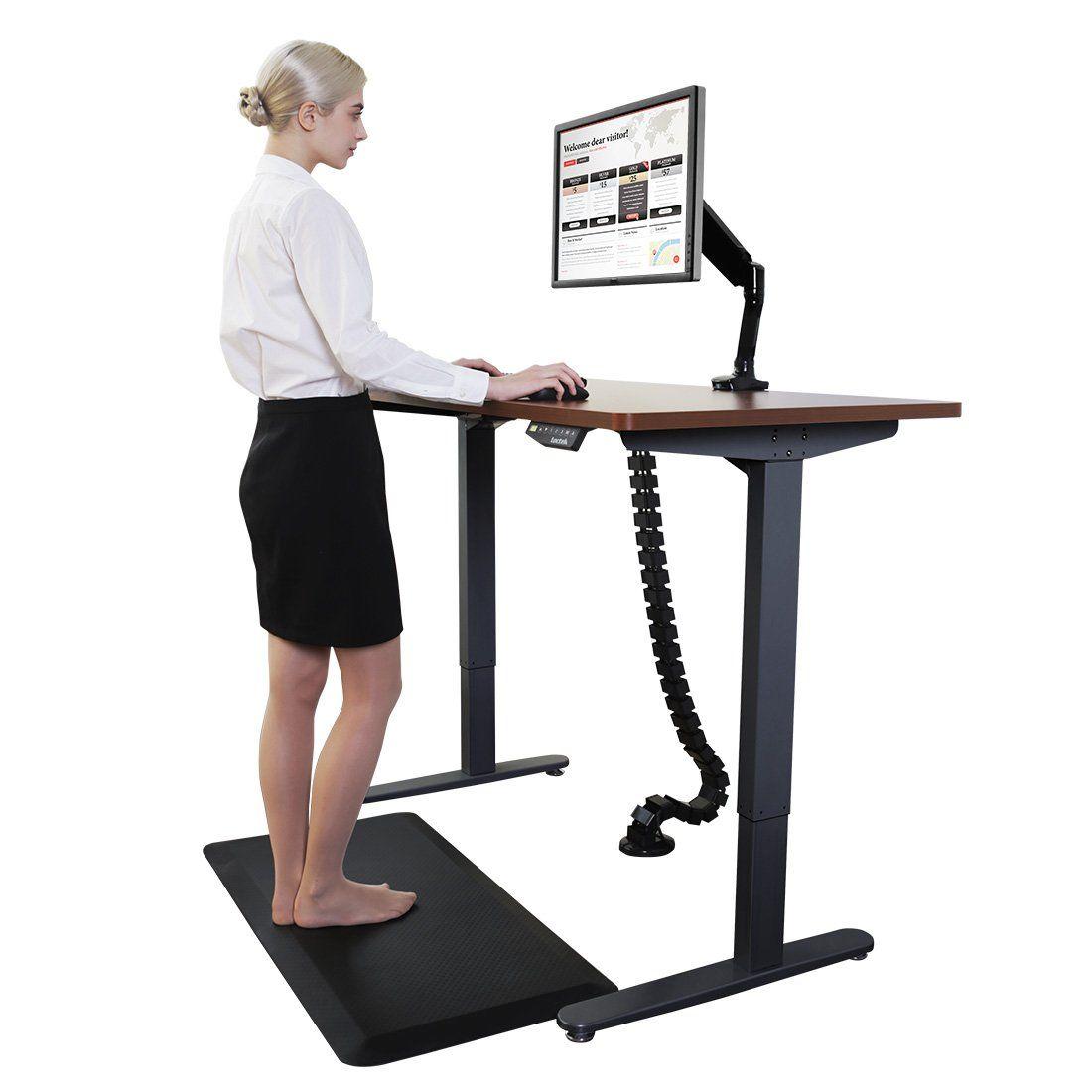 Flexispot Standing Desk Mat 20 In X 39 In Nonslip Comfort Kitchen Floor Mat 3 4 Antifatigue Black Comfort Kitchen Floor Stand Up Desk Standing Desk Floor Mats