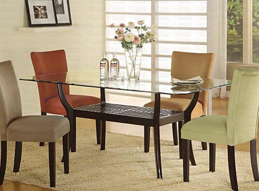 Vetro sormontato tavoli sala da pranzo con esemplare immagini vetro ...