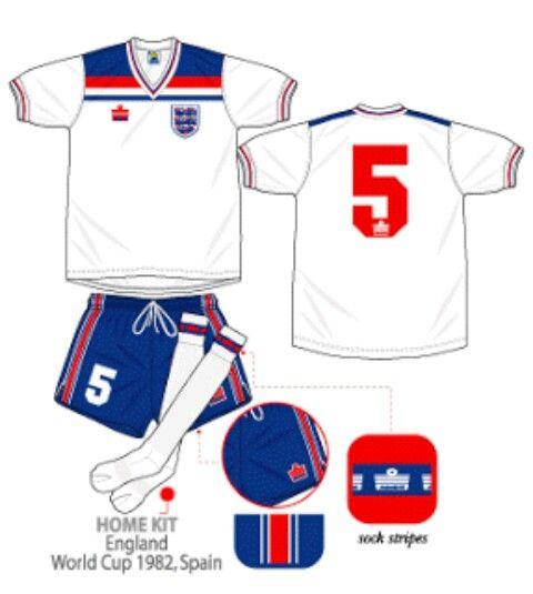 England Score Draw Football Shirt Retro 1982 World Cup Original Mens Home Jersey In 2020 Retro Football Shirts Football Shirts England Football Shirt