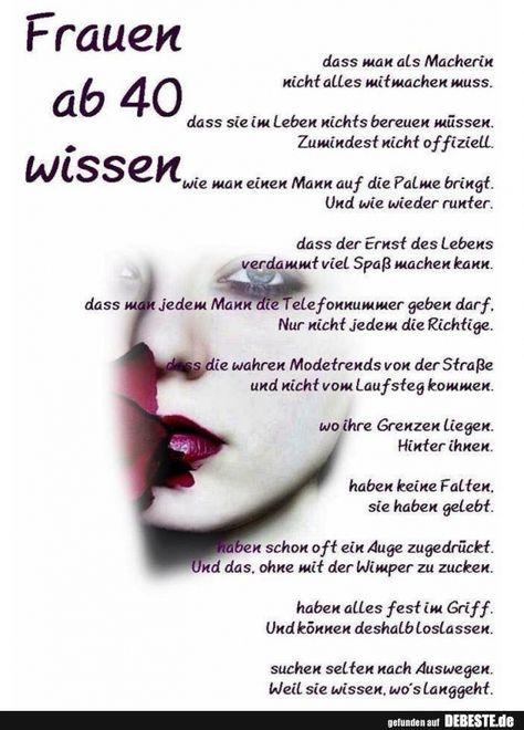 Frauen Ab 40 Wissen Geburtstagswunsche Lustig Frau Spruche