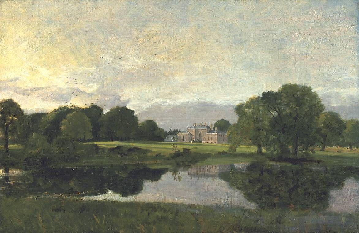 john constable -- malvern hall, warwickshire -- 1809 -- oil on canvas -- the tate britain