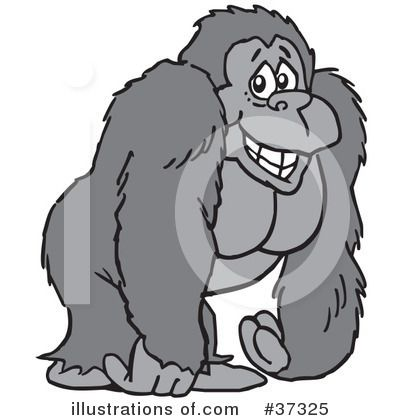 25+ Clipart Of Zoo Animals Gorilla