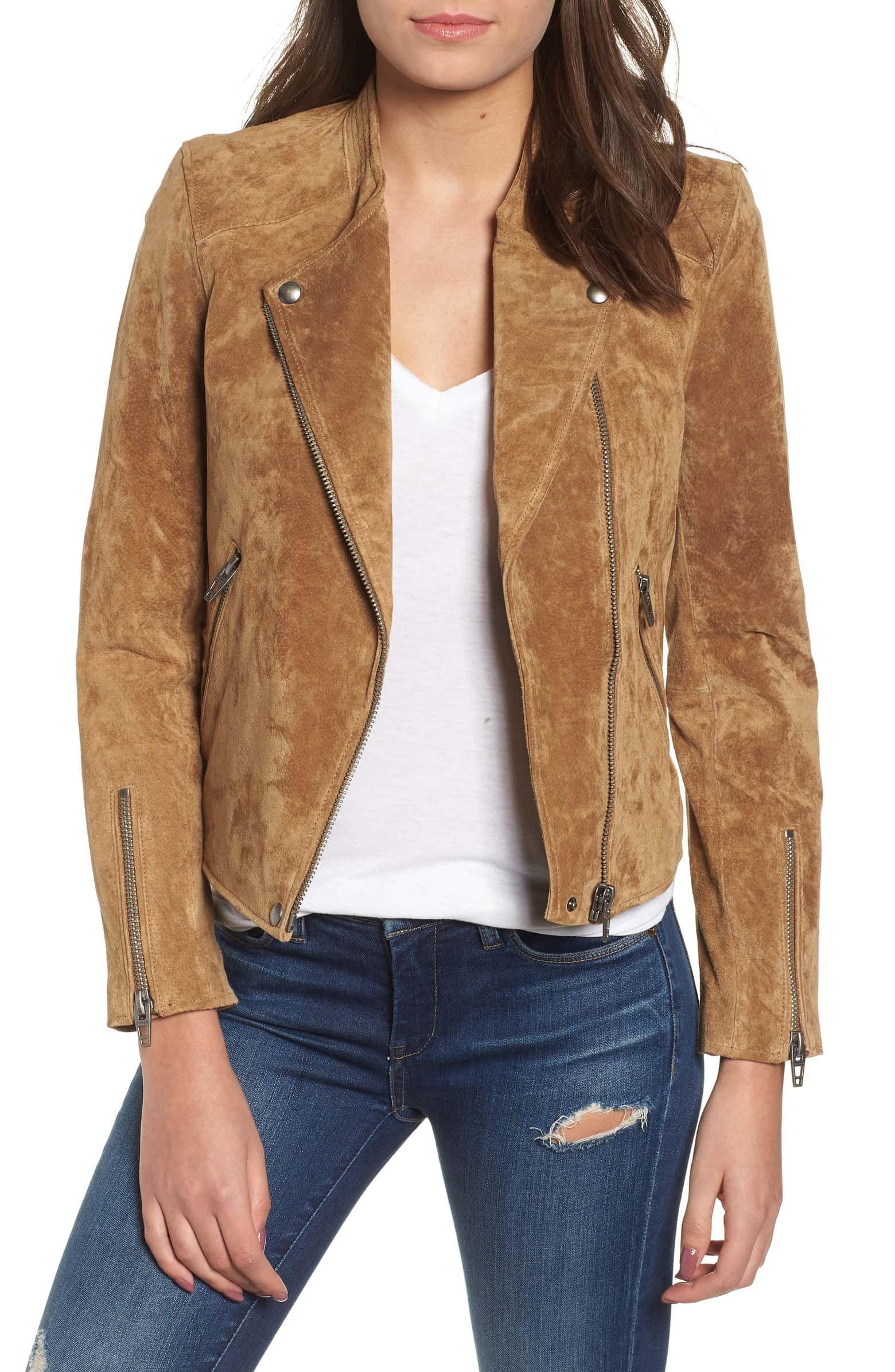 BLANKNYC No Limit Suede Moto Jacket Suede moto jacket