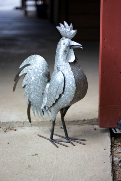 Galvanized Iron Rooster Iron Decorative Accessories And Country Gorgeous Roosters Decorative Accessories